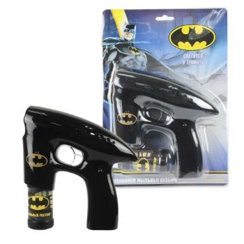 1toy Batman, мыл. пистолет, светится в темноте, звук, бут. 45 мл, блистер