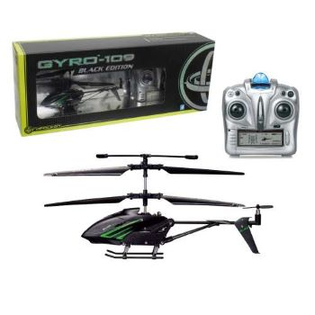 1toy GYRO-109 Black Edition верт. с гироскопом ИК алюм.3 канала 18,5см. USB-зарядка., со светом